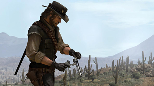 John Marston frantically reloaded, but the cactus horde advanced without pause.